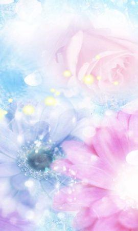 105906 télécharger le fond d'écran Abstrait, Rose, Fleurs, Fleur, Flou, Contexte, Effets - économiseurs d'écran et images gratuitement