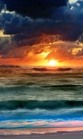 4459 скачать обои Пейзаж, Вода, Небо, Море, Солнце, Рисунки - заставки и картинки бесплатно