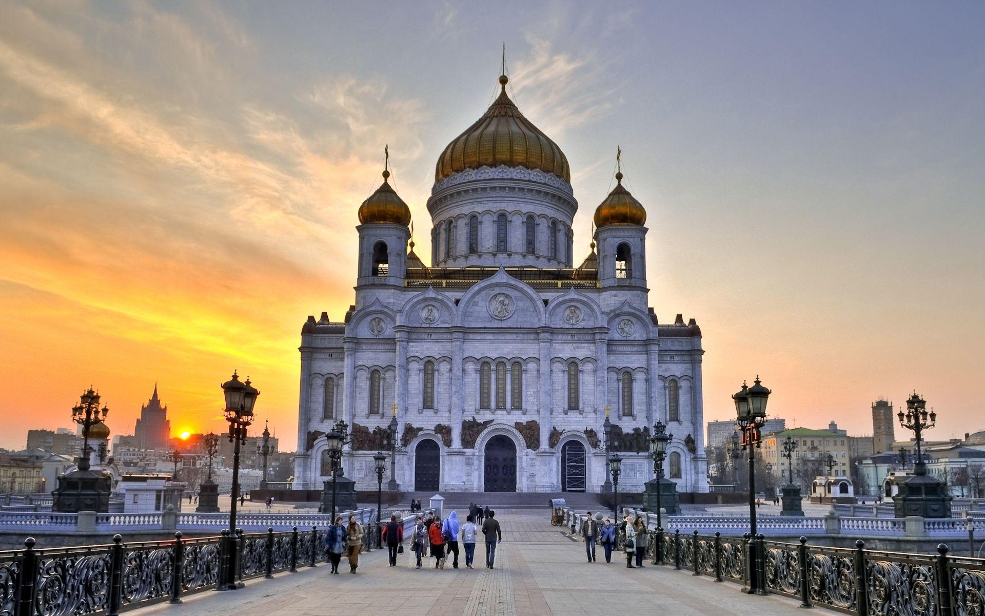 126896 скачать обои Храм Христа Спасителя, Москва, Белокаменный, Здание, Россия, Города - заставки и картинки бесплатно