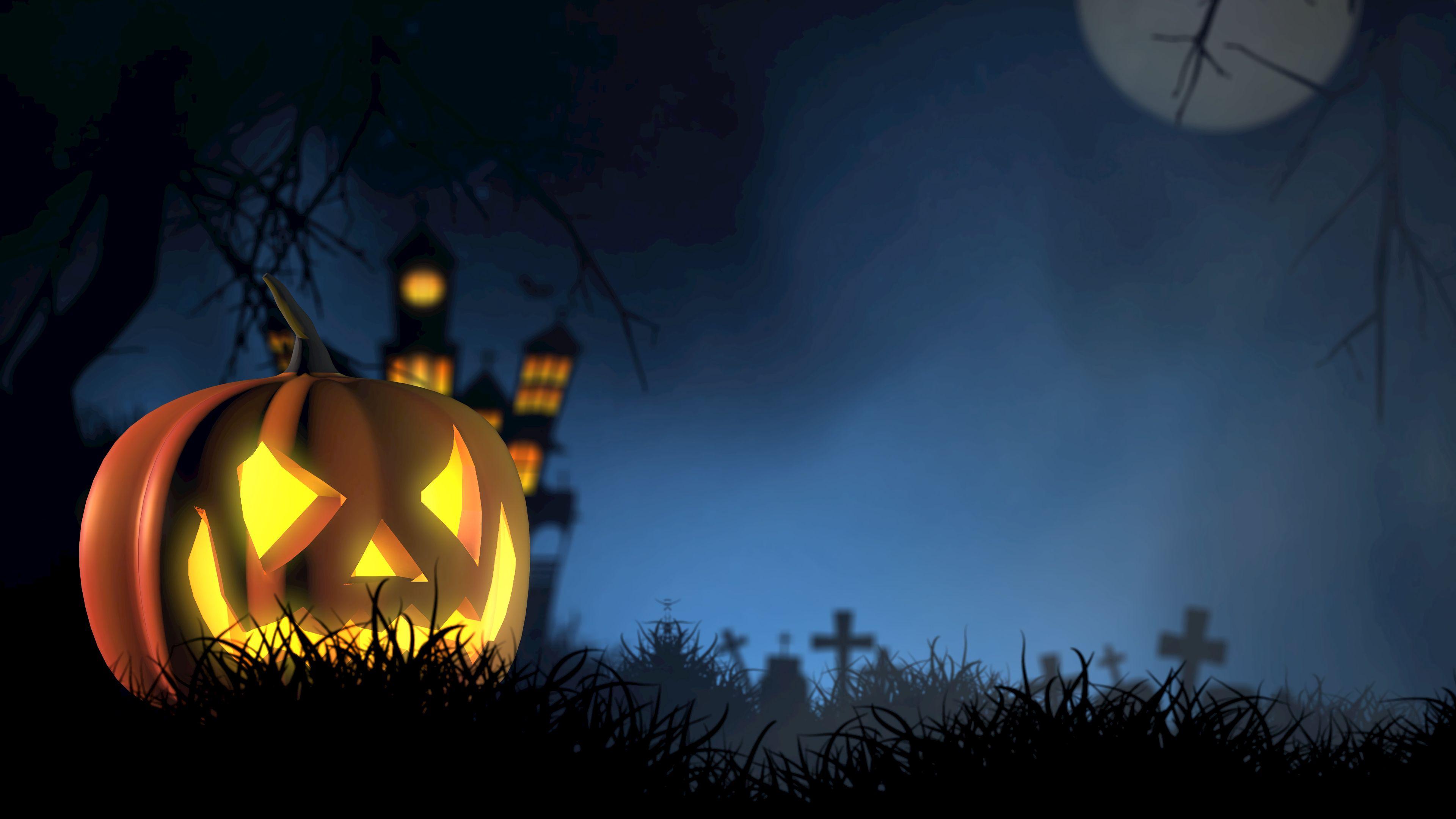 146313 Hintergrundbild herunterladen Halloween, Feiertage, Herbst, Kürbis, Gesicht, Unheimliche, Gespenstisch - Bildschirmschoner und Bilder kostenlos
