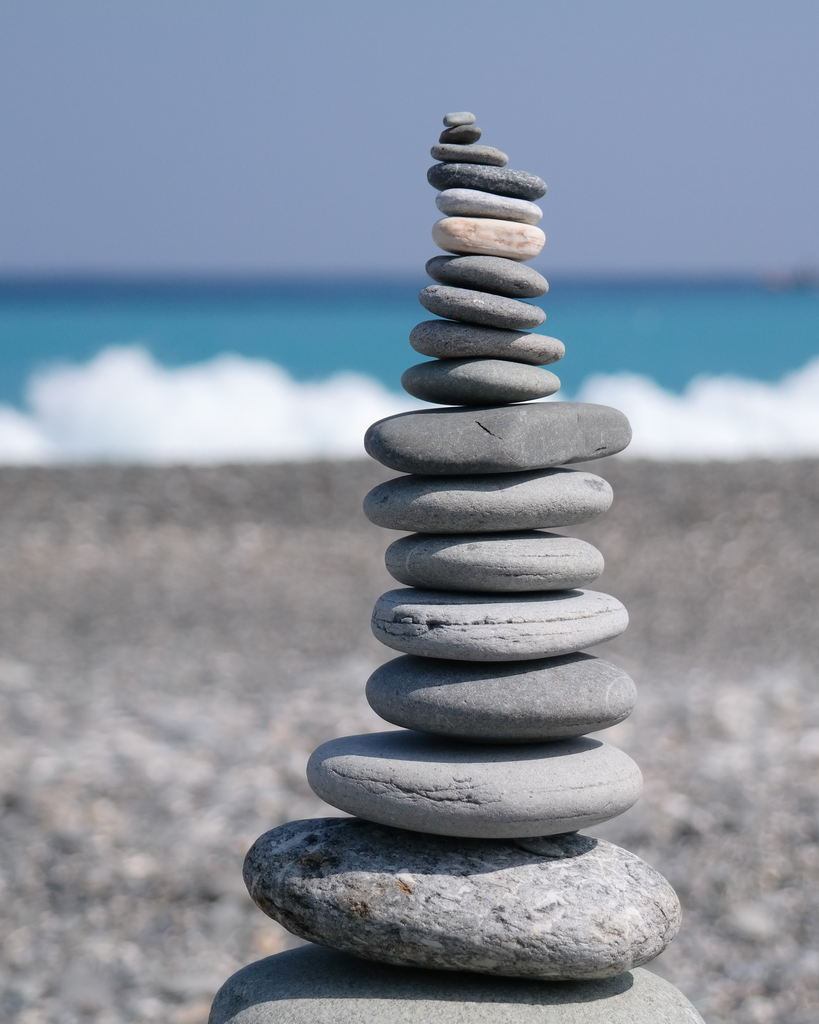101932 download wallpaper Nature, Stones, Pebble, Balance, Coast screensavers and pictures for free