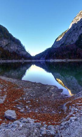 116229 скачать обои Природа, Озеро, Отражение, Горы, Пейзаж - заставки и картинки бесплатно