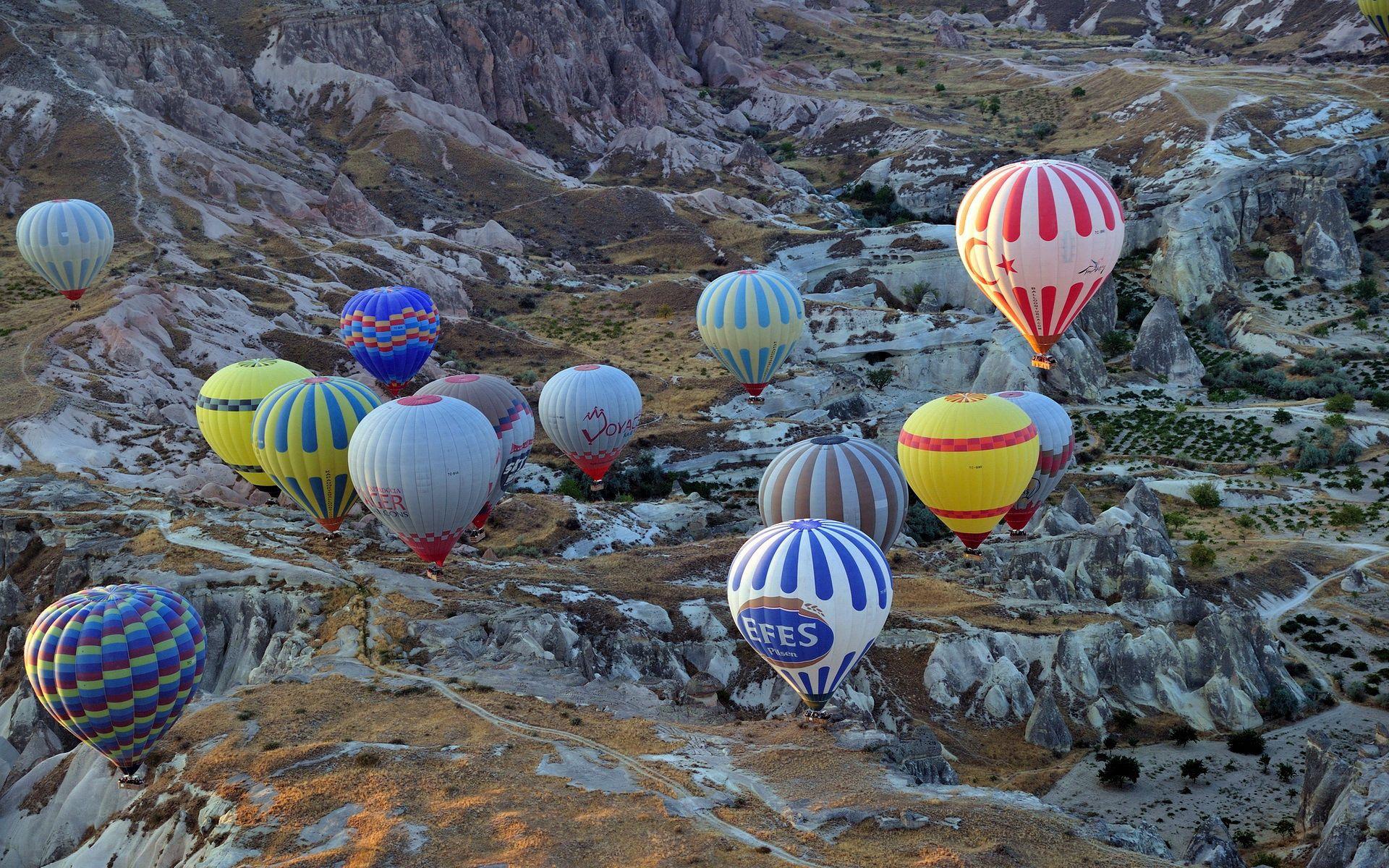 54925 Hintergrundbild herunterladen Sport, Flugzeuge, Luftballons, Flugzeug, Ballons - Bildschirmschoner und Bilder kostenlos