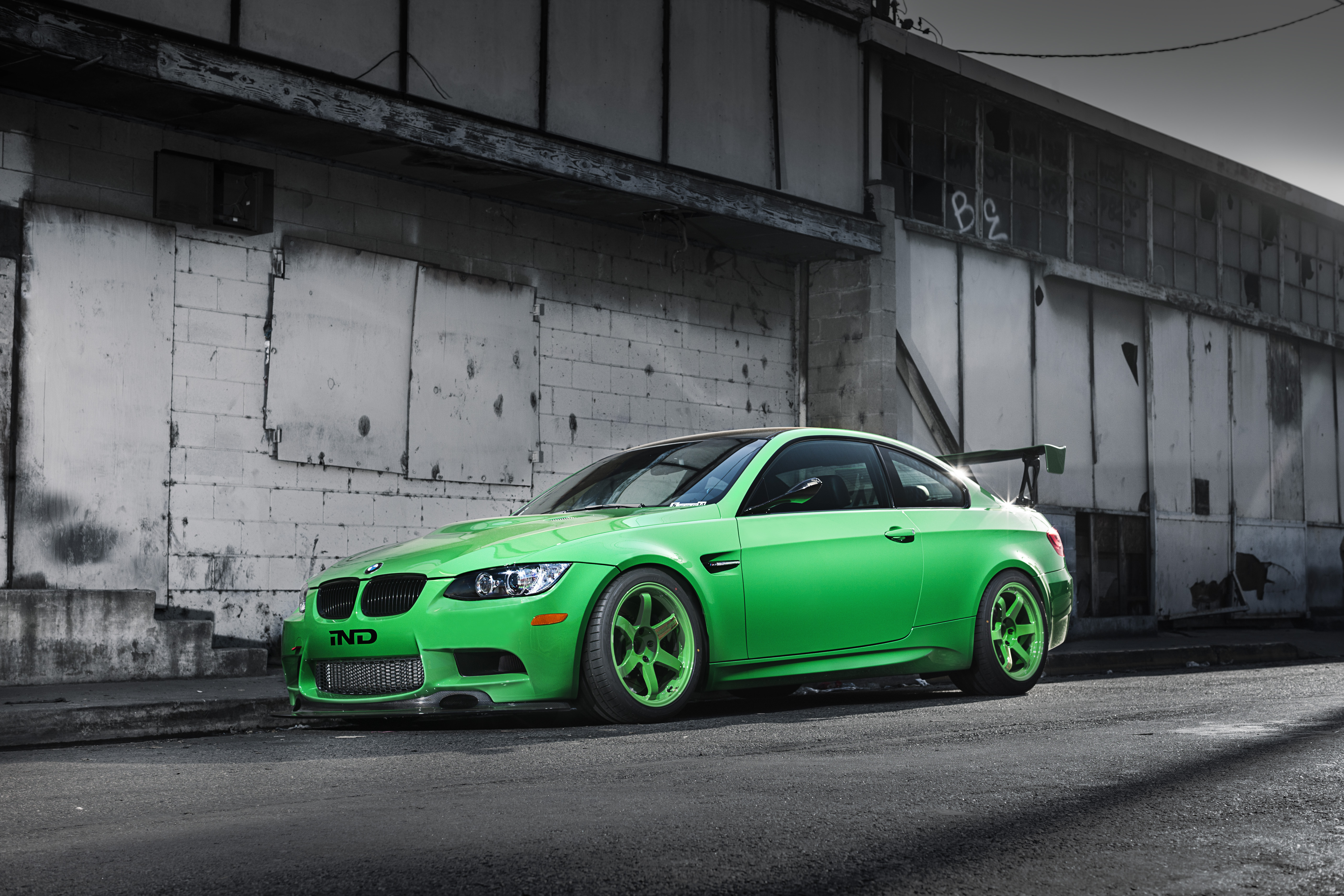 66629 free download Green wallpapers for phone, Cars, Bmw, M3, E92, Side View, Wing, Shadow, Building Green images and screensavers for mobile