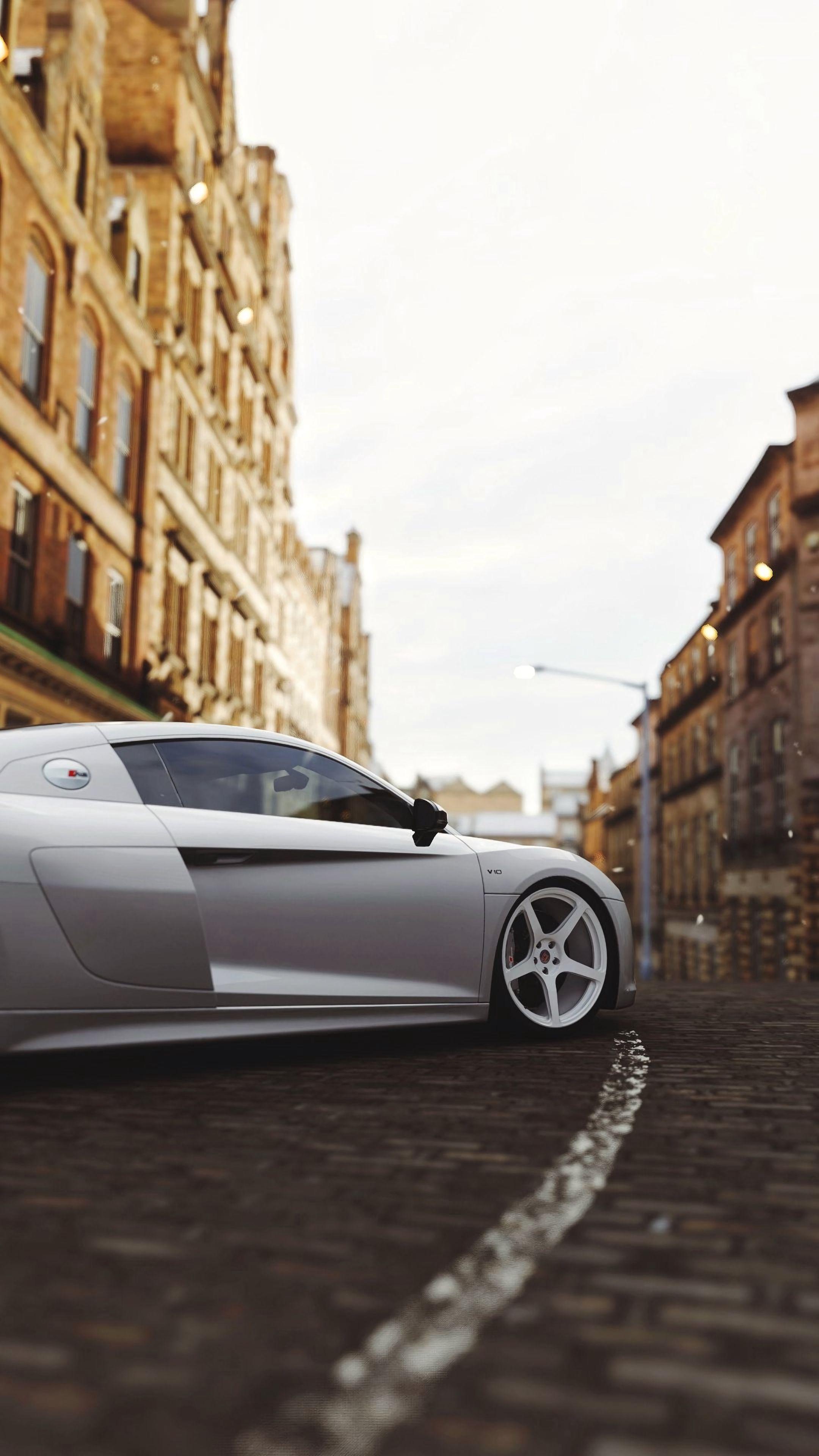 135829 Hintergrundbild herunterladen Audi, Cars, Seitenansicht, Rad, Audi R8 - Bildschirmschoner und Bilder kostenlos