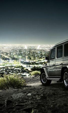 42072 télécharger le fond d'écran Paysage, Villes, Voitures, Mercedes - économiseurs d'écran et images gratuitement