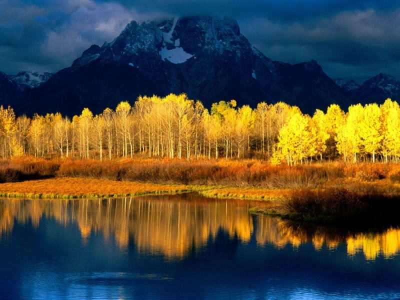 49729 download wallpaper Landscape, Nature, Trees, Mountains, Lakes screensavers and pictures for free