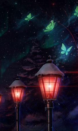 113000 descargar fondo de pantalla Linternas, Luces, Polillas, Mariposas, Arte: protectores de pantalla e imágenes gratis