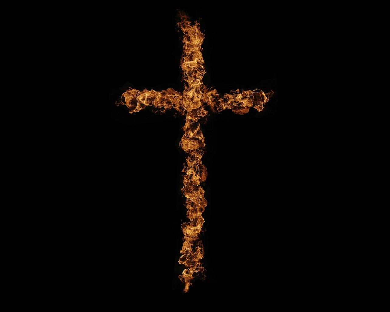 20491 скачать обои Кресты, Фон, Огонь - заставки и картинки бесплатно