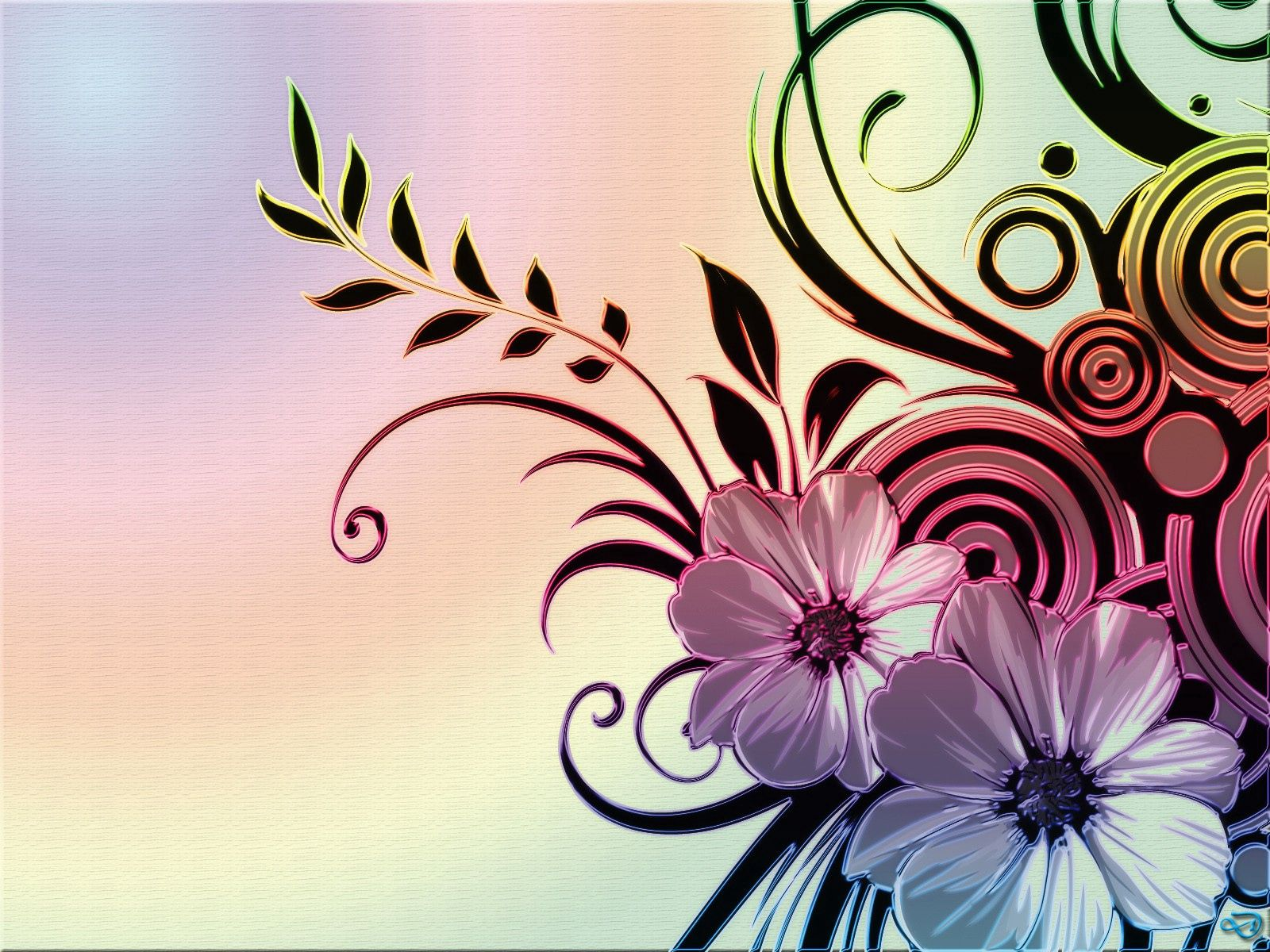 156930 download wallpaper Abstract, Picture, Drawing, Wavy, Light Coloured, Light, Flowers, Patterns screensavers and pictures for free