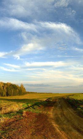 28207 скачать обои Пейзаж, Деревья, Поля, Дороги, Облака - заставки и картинки бесплатно