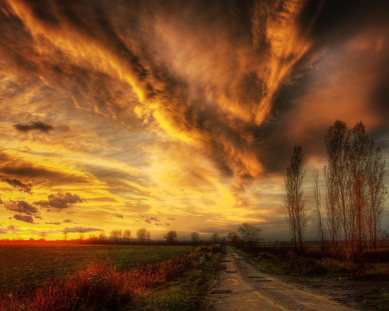 9795 скачать обои Пейзаж, Небо, Дороги - заставки и картинки бесплатно