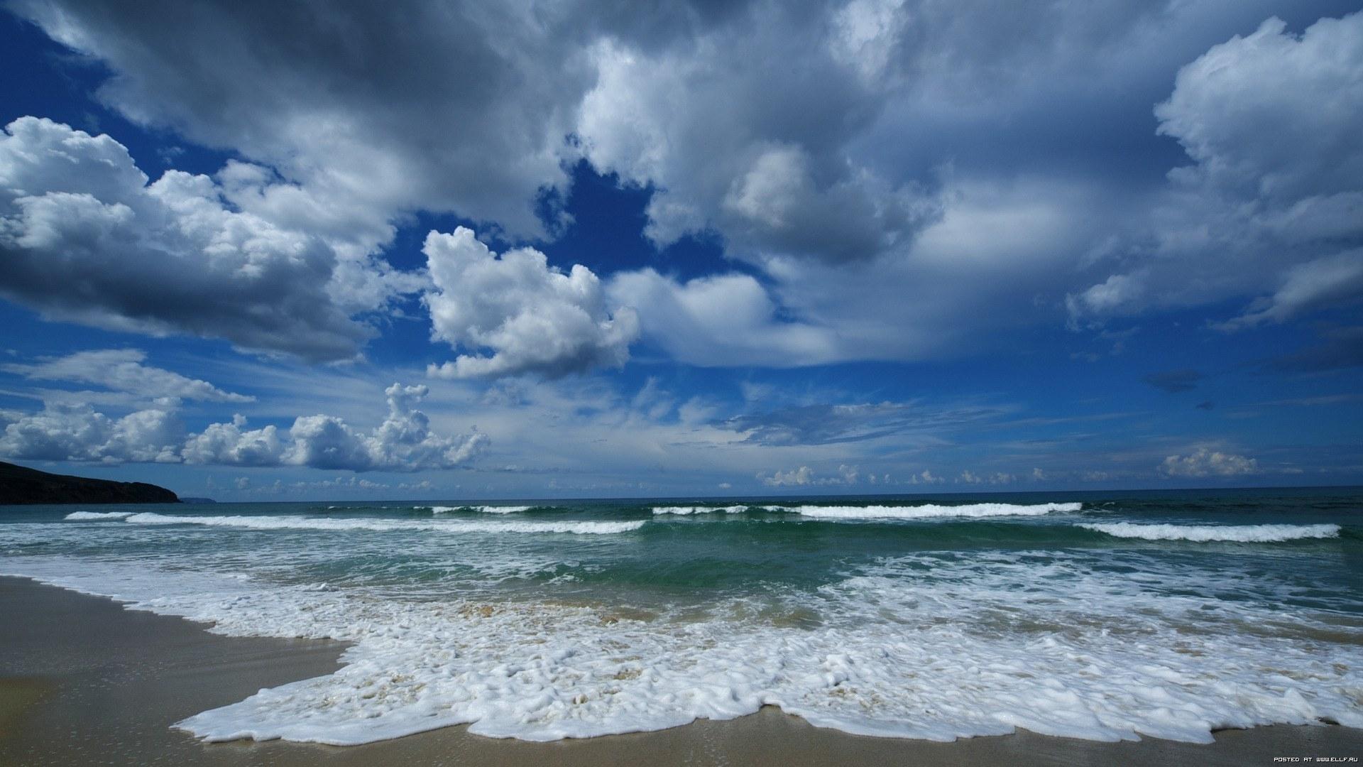 26742 скачать обои Пейзаж, Небо, Море, Облака, Волны - заставки и картинки бесплатно