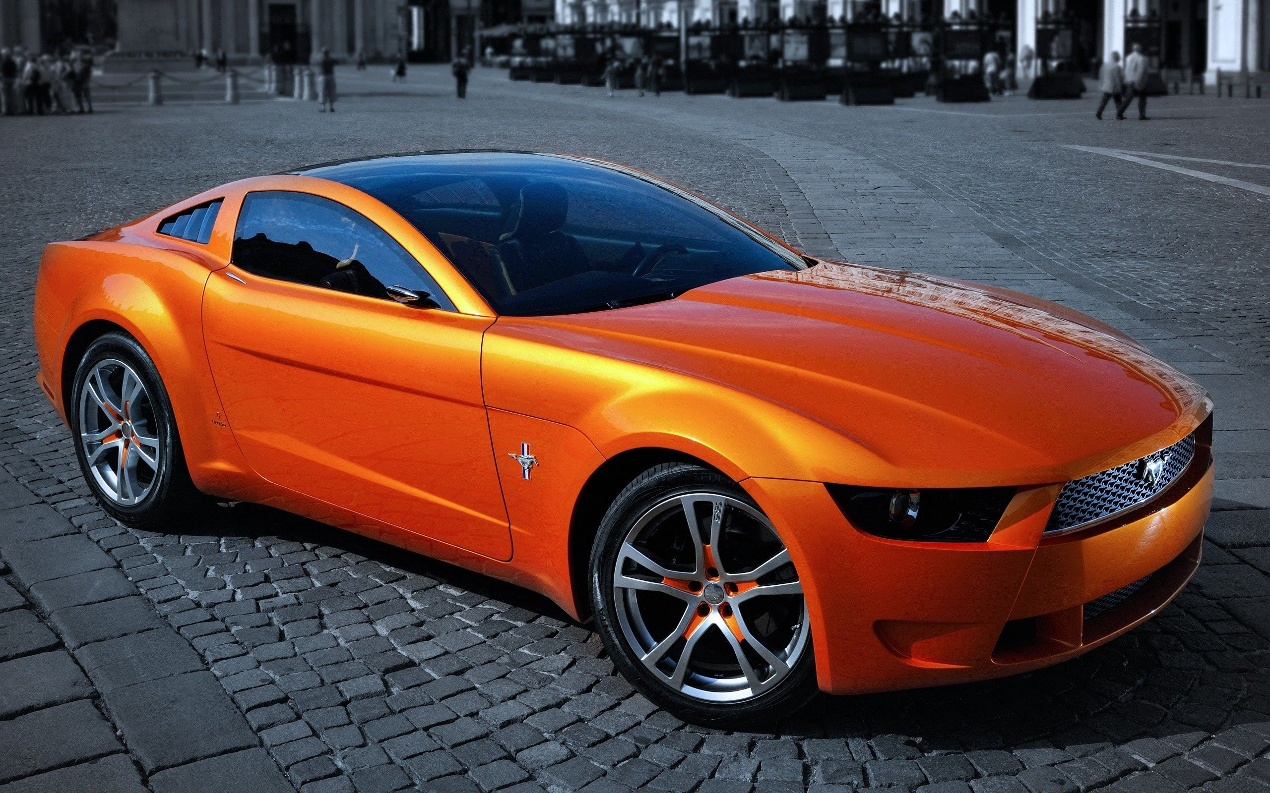 141774 download wallpaper Ford, Mustang, Cars, Traffic, Movement, Street screensavers and pictures for free