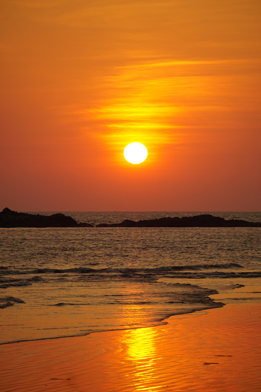 62578 descargar fondo de pantalla Naturaleza, Puesta Del Sol, Mar, Crepúsculo, Ondas, Playa, Oscuridad: protectores de pantalla e imágenes gratis