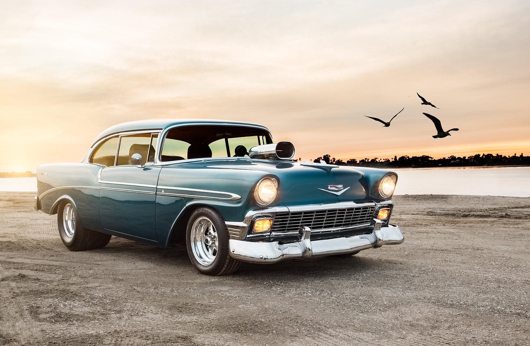 87958 скачать обои Тачки (Cars), 1956, Шевроле (Chevrolet), Bel, Air, Спорт, Coupe - заставки и картинки бесплатно