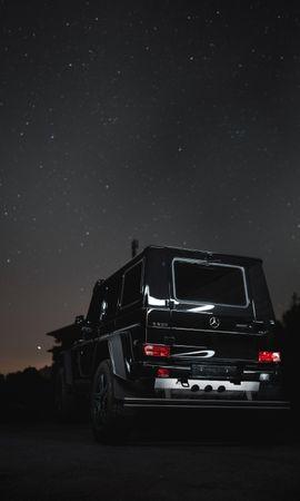 109783 télécharger le fond d'écran Voitures, Mercedes G500, Mercedes, Jeep, Vus, Voiture, Nuit - économiseurs d'écran et images gratuitement