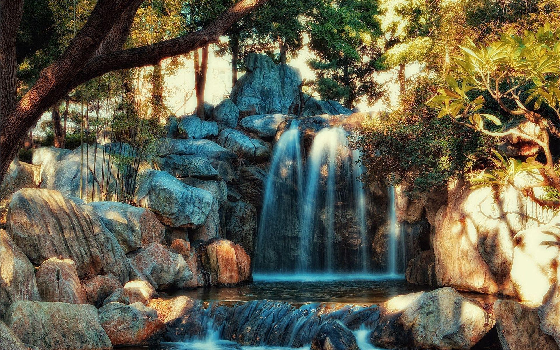 101589 скачать обои Вода, Водопад, Природа, Река, Камни, Hdr - заставки и картинки бесплатно
