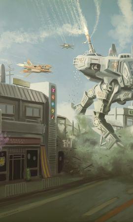 2410 baixar papel de parede Cidades, Fantasia, Robots, Imagens - protetores de tela e imagens gratuitamente