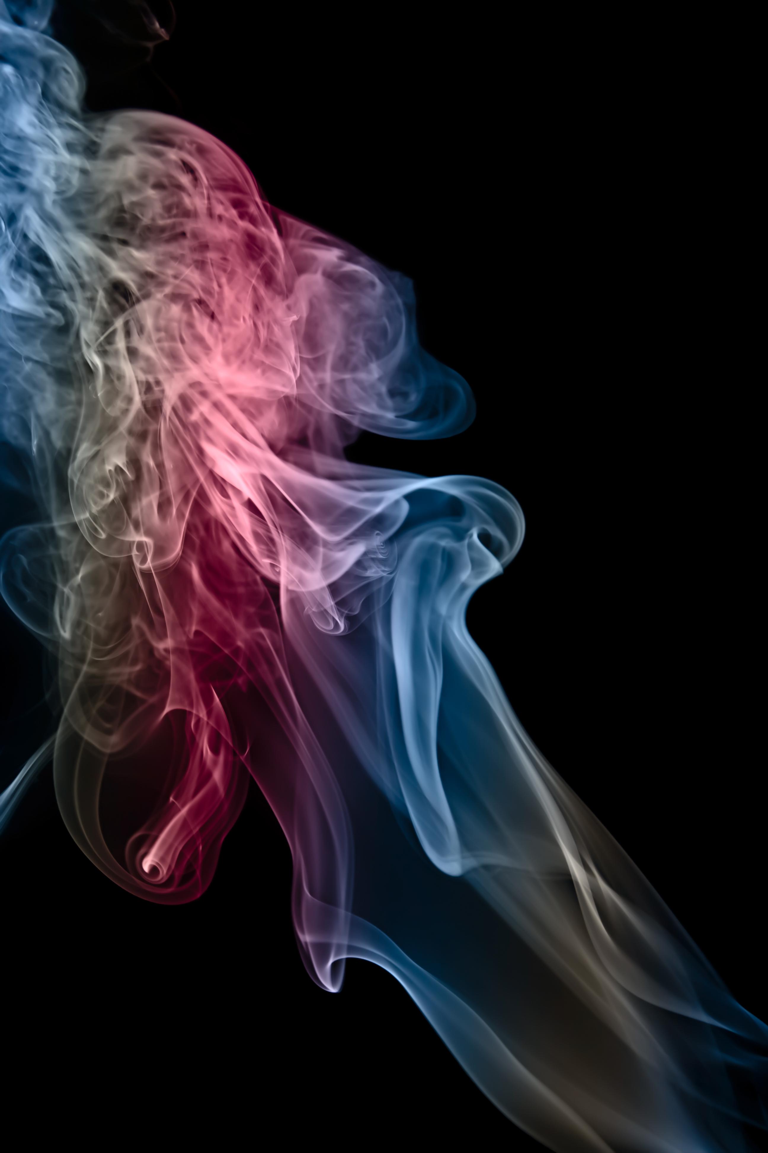 140672 descargar fondo de pantalla Abstracción, Multicolor, Abigarrado, Sudario, Mortaja, Nubes De Humo, Fumar: protectores de pantalla e imágenes gratis