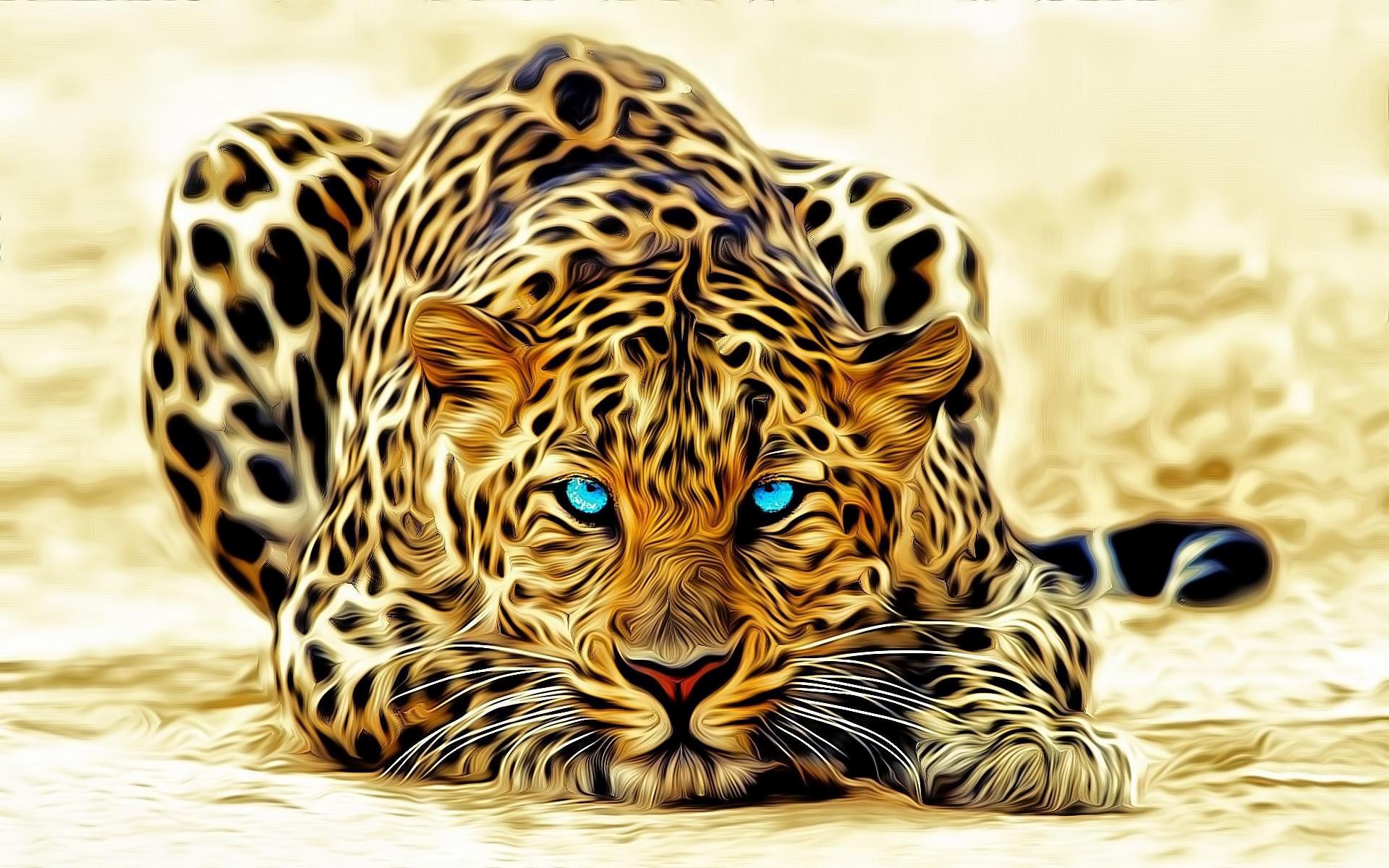 35787 скачать обои Животные, Рисунки, Леопарды - заставки и картинки бесплатно
