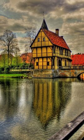 72456 Screensavers and Wallpapers Architecture for phone. Download Germany, Beauty, Bridge, Clouds, Colorful, Colors, Color, Grass, House, Houses, Reflection, Rivers, Road, Sky, City, Trees, View, Water, Hdr, Architecture, Cities pictures for free