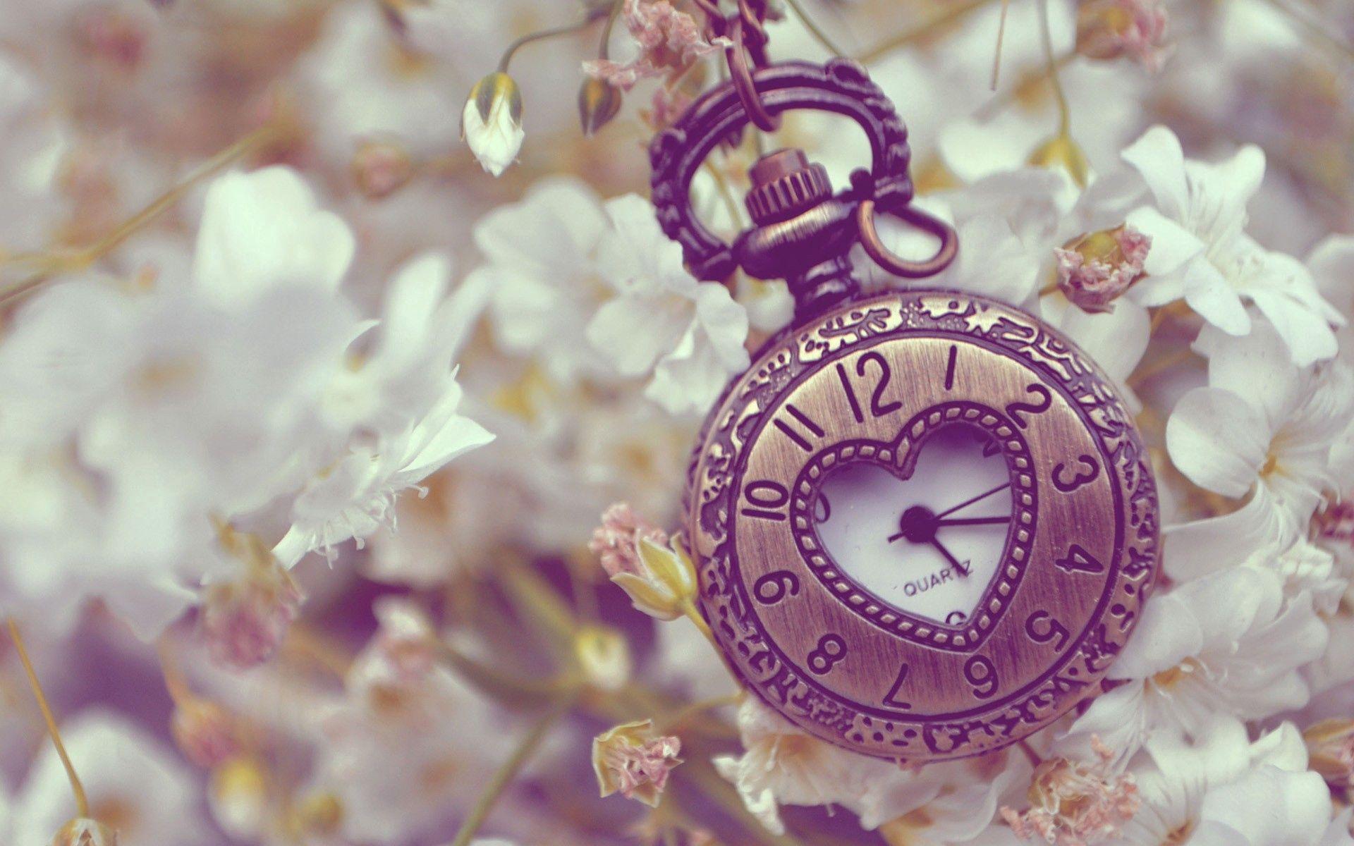 119652 скачать обои Разное, Карманные Часы, Фон, Форма, Цветы - заставки и картинки бесплатно