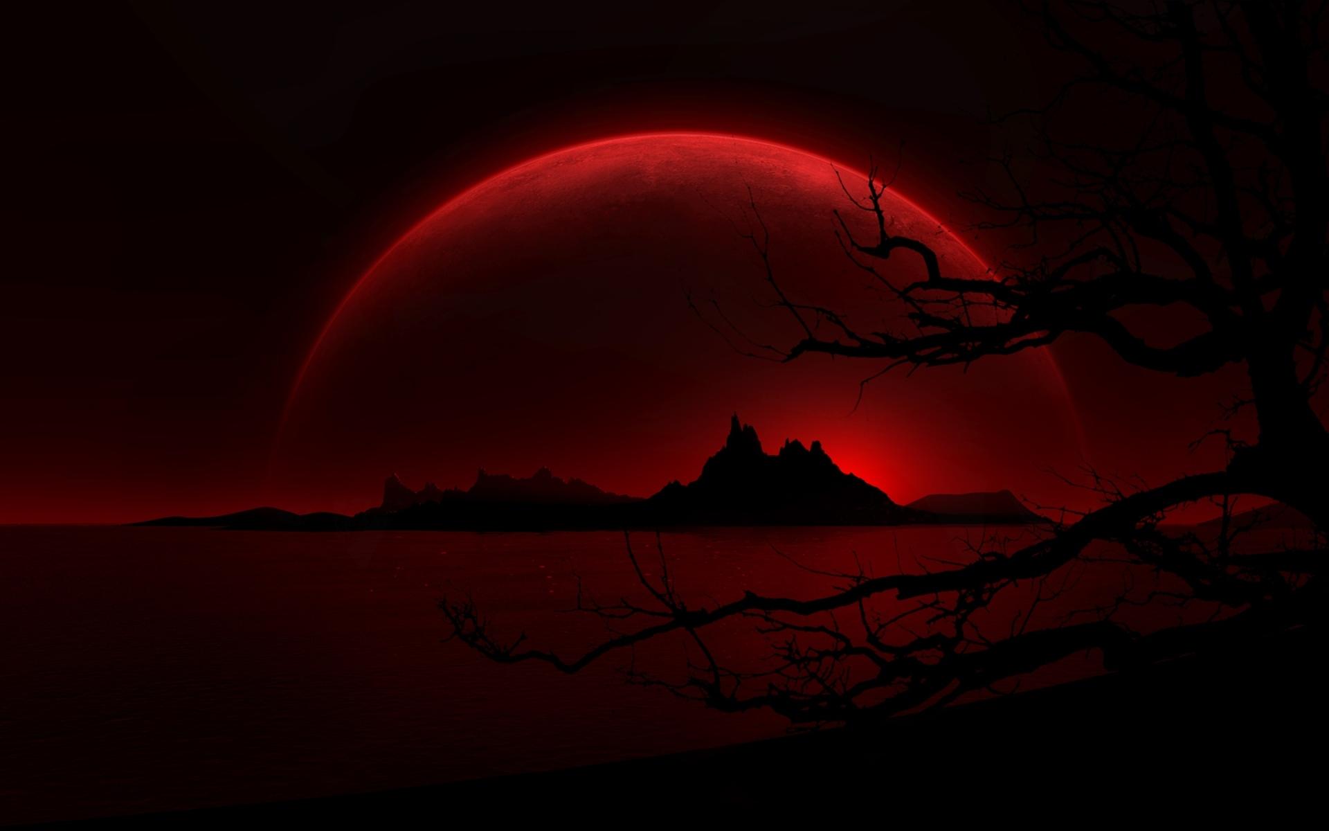 18707 скачать обои Пейзаж, Ночь, Луна - заставки и картинки бесплатно