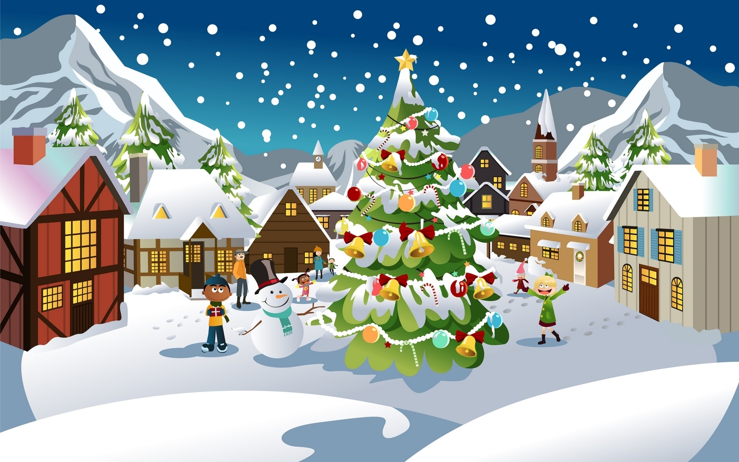 24576 download wallpaper Holidays, New Year, Snow, Christmas, Xmas, Pictures screensavers and pictures for free