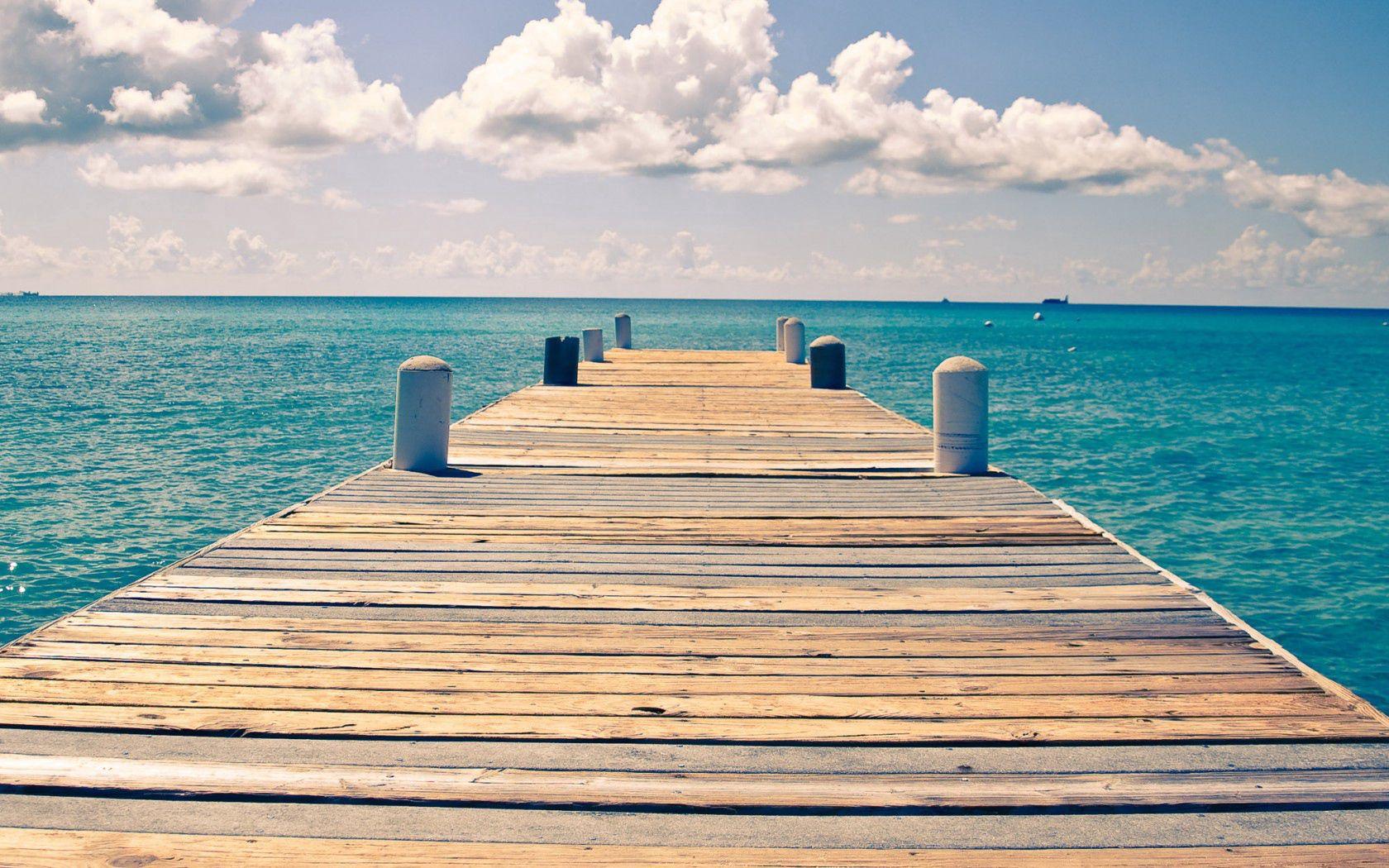 85277 Salvapantallas y fondos de pantalla Mar en tu teléfono. Descarga imágenes de Naturaleza, Mar, El Muelle, Muelle, Cielo, Nubes gratis