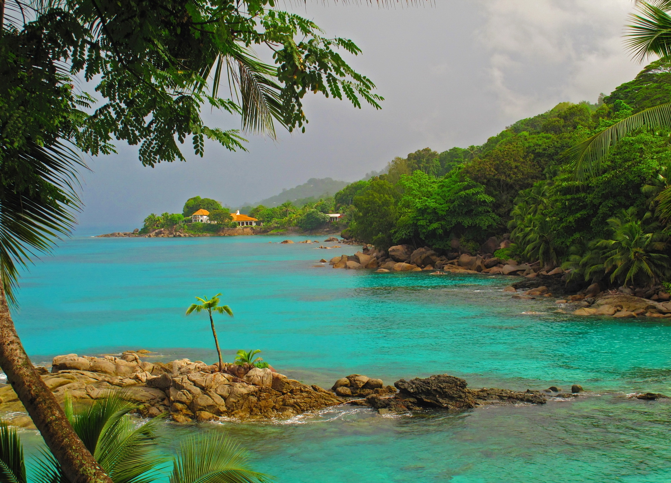 151335 download wallpaper Tropics, Island, Sea, Nature, Mountains screensavers and pictures for free