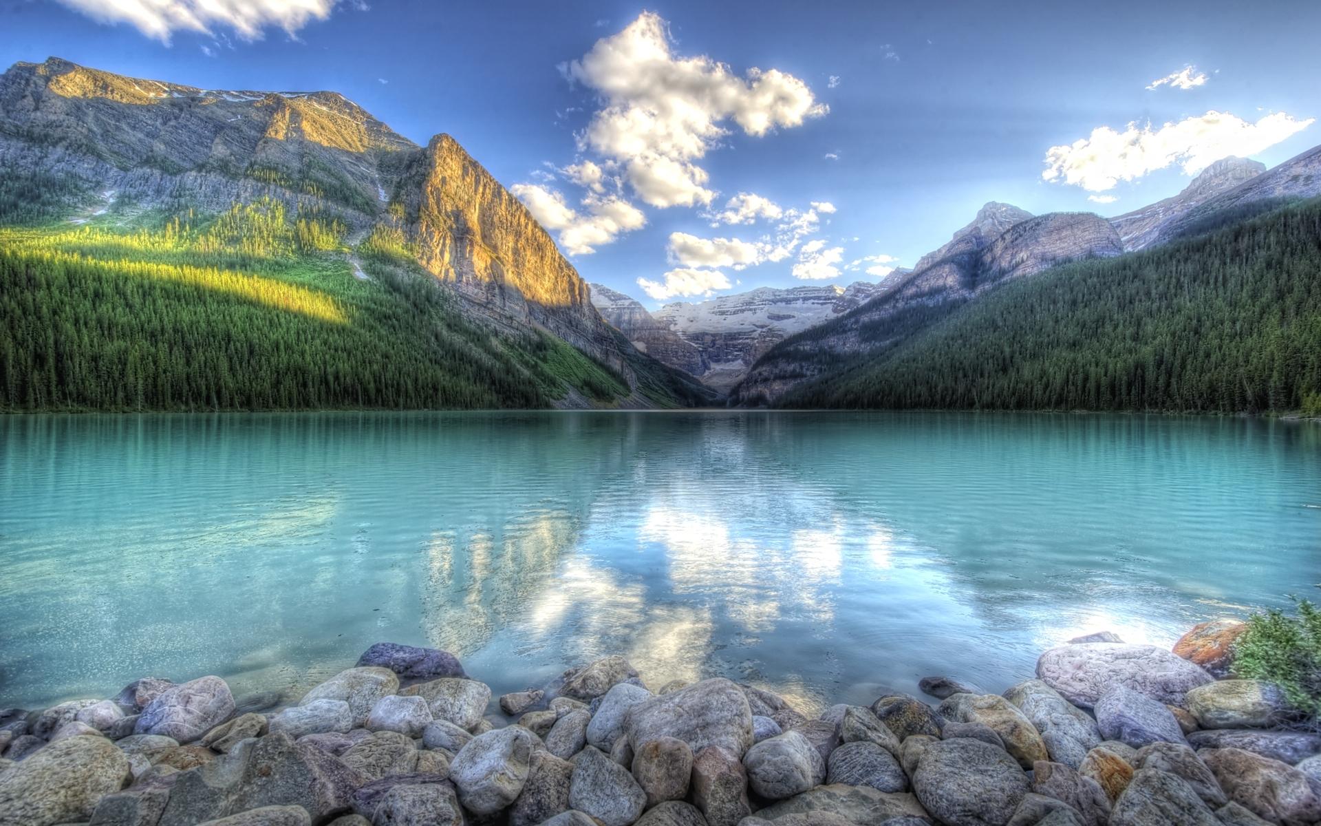 23453 скачать обои Пейзаж, Горы, Облака, Озера - заставки и картинки бесплатно