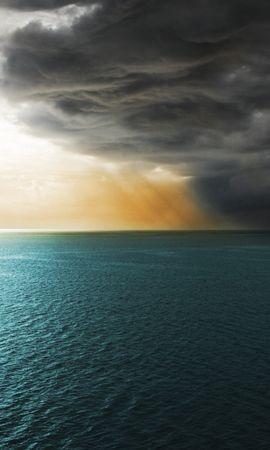 21043 скачать обои Пейзаж, Закат, Море, Облака - заставки и картинки бесплатно