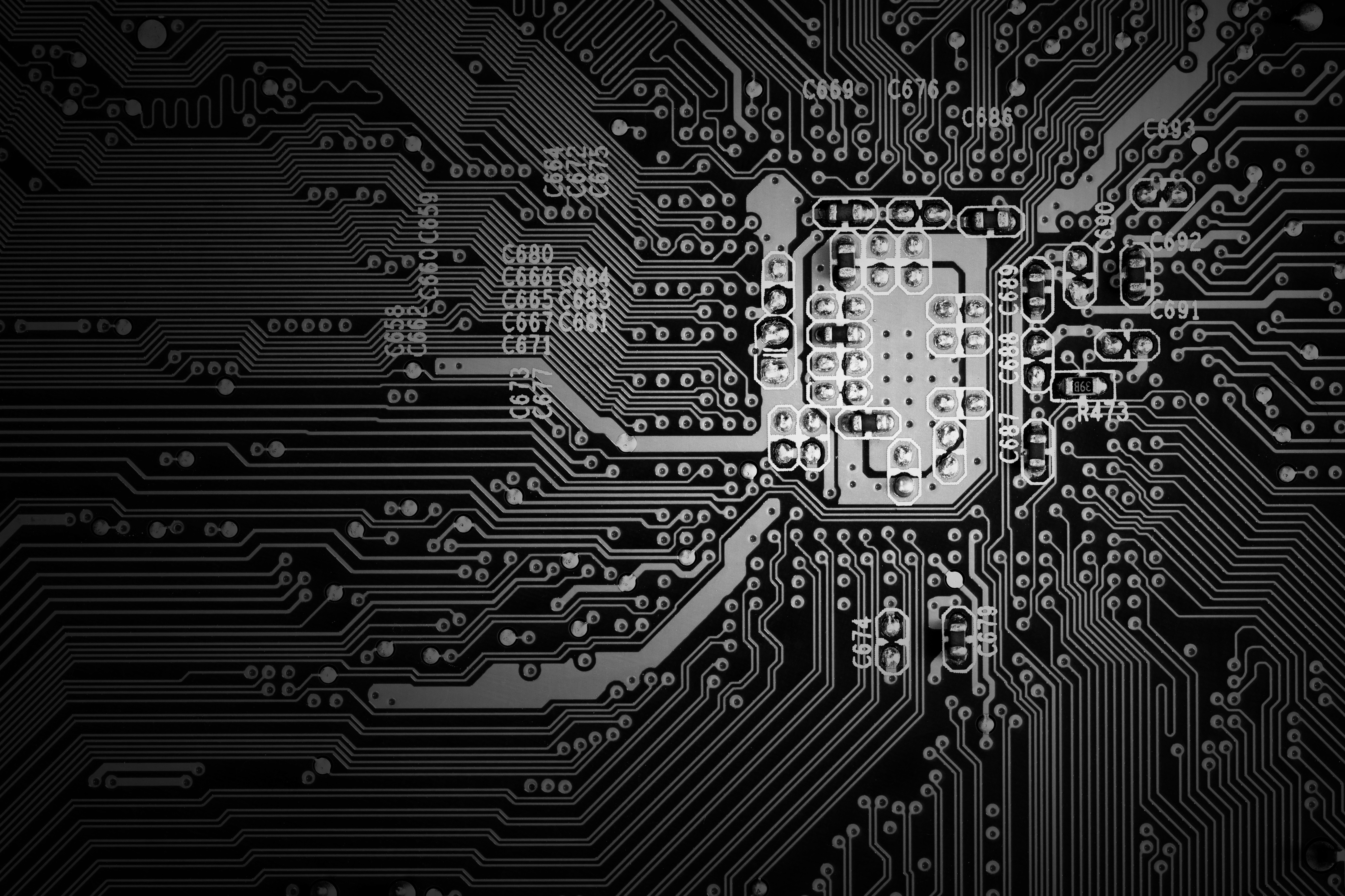 135599 download wallpaper Chip, Technology, Bw, Chb, Technologies, Schemes, Circuitry screensavers and pictures for free