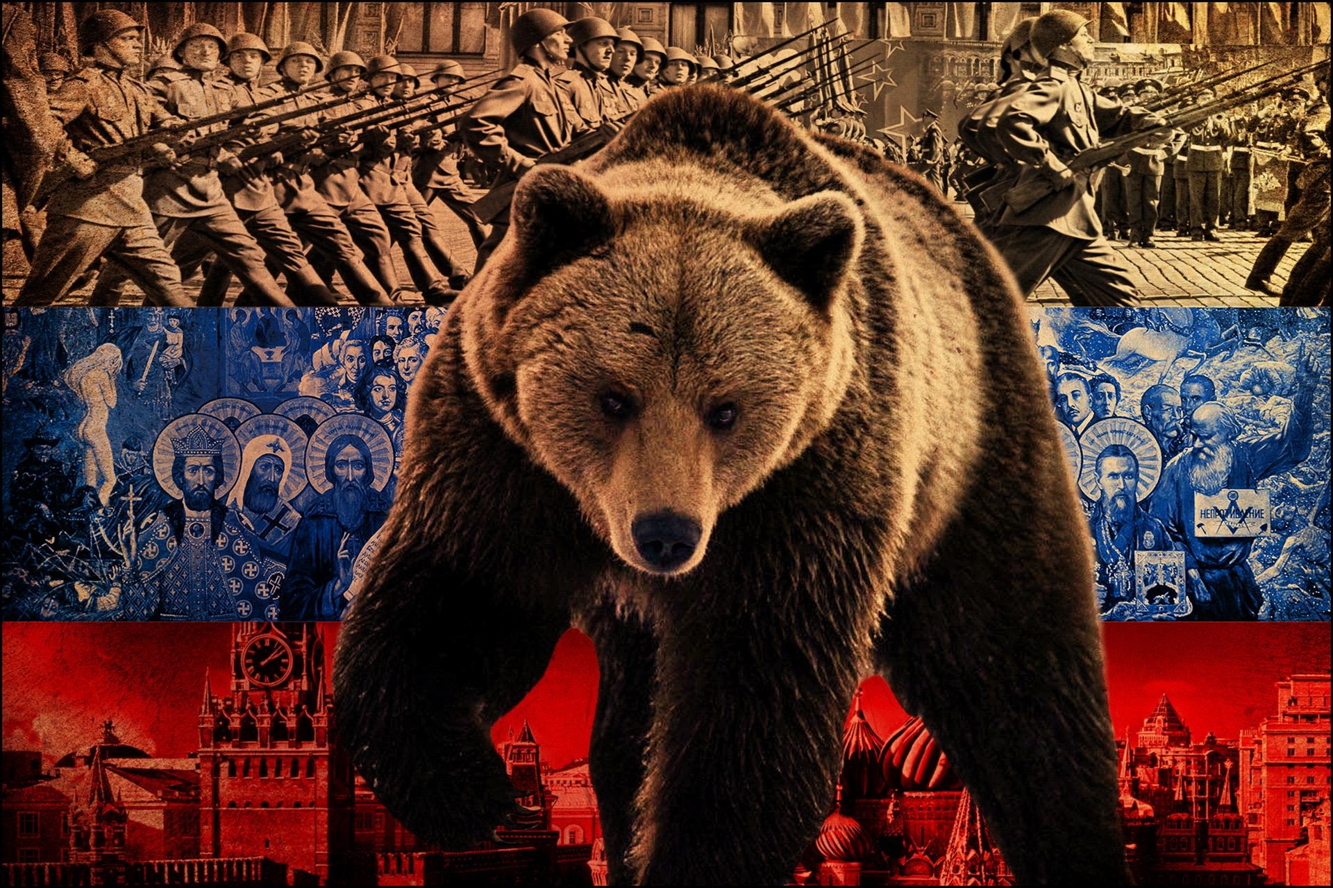 96892 baixar papel de parede Guerra, Miscelânea, Variado, Suportar, Urso, Rússia, Bandeira, Simbolismo, Lutadores, Vistas - protetores de tela e imagens gratuitamente