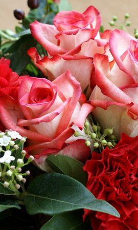 31252 завантажити шпалери Рослини, Квіти, Рози, Букети - заставки і картинки безкоштовно