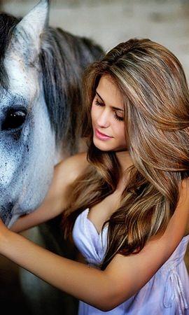お使いの携帯電話の46583スクリーンセーバーと壁紙ピープル。 動物, ピープル, 女の子, 馬の写真を無料でダウンロード