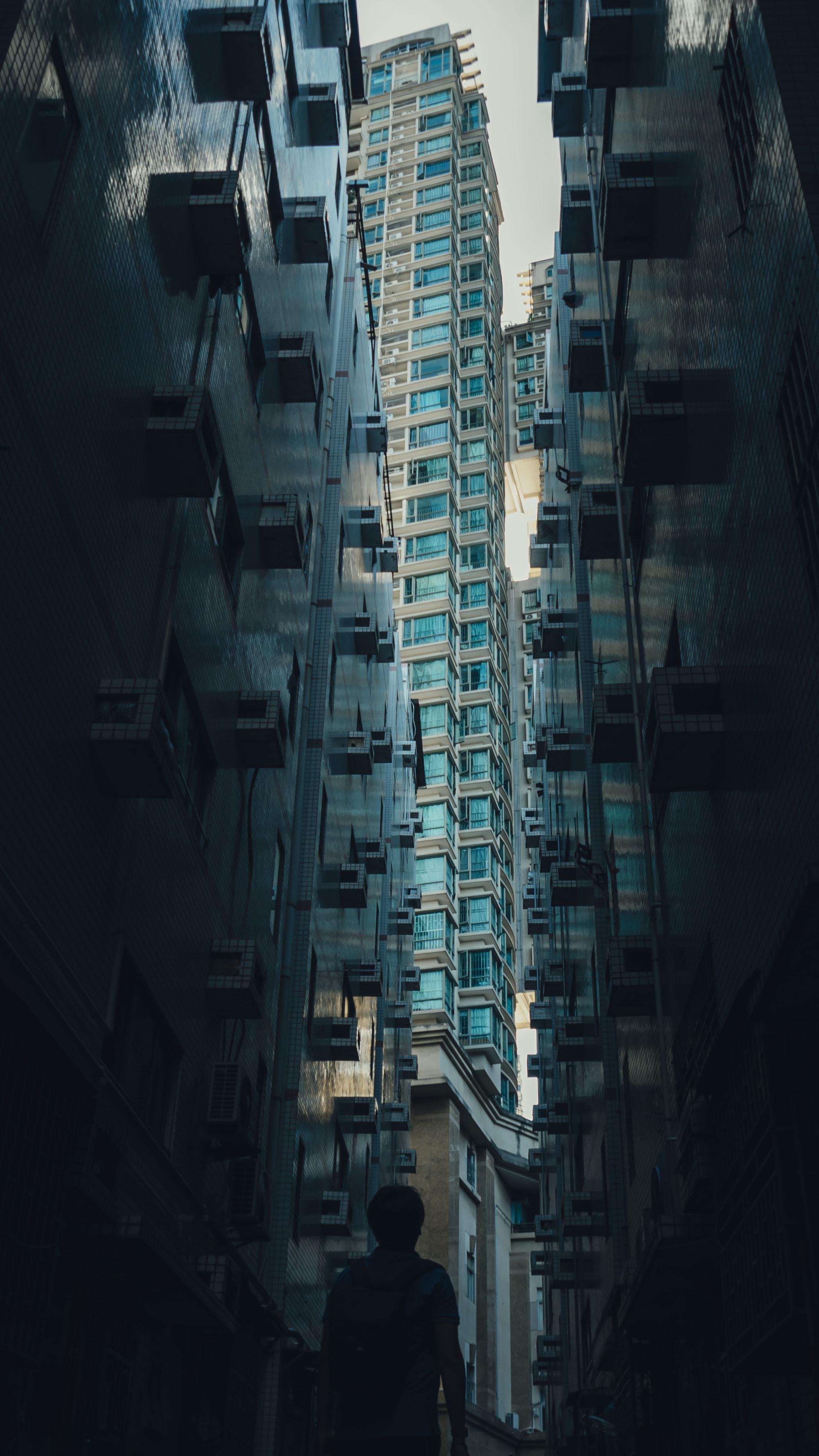 70831壁紙のダウンロードその他, 雑, シルエット, 孤独, 寂しさ, 建物, 高層ビル, 高 層 ビル, 市, 都市-スクリーンセーバーと写真を無料で