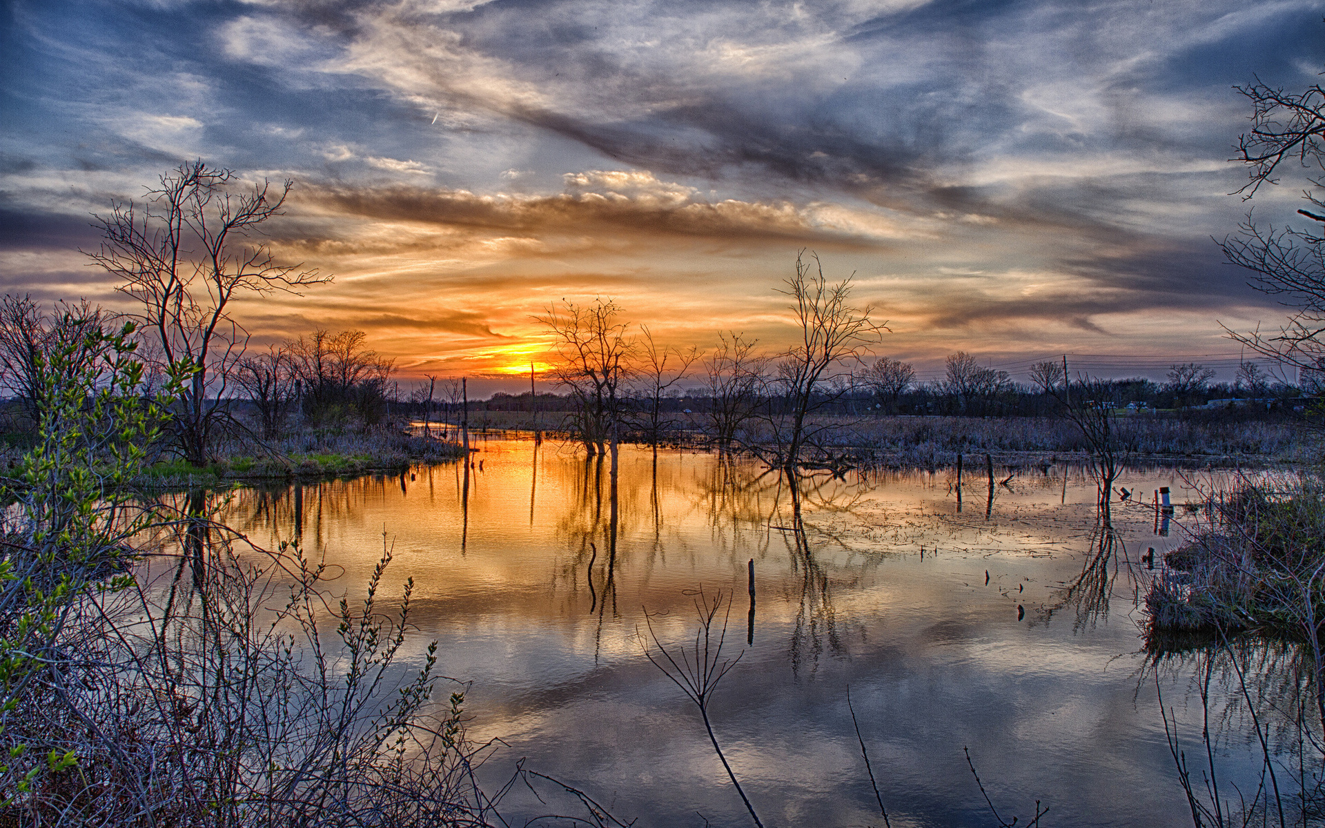 47844 download wallpaper Landscape, Nature, Sunset, Lakes screensavers and pictures for free