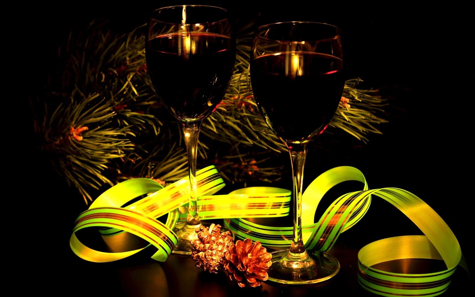 28325 скачать обои Праздники, Новый Год (New Year), Вино - заставки и картинки бесплатно