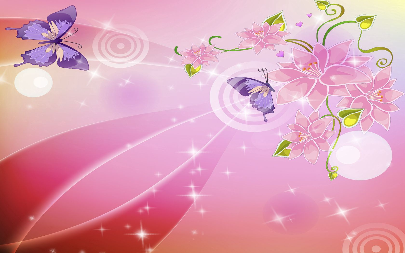 108419 download wallpaper Textures, Texture, Pink, Background, Glare, Butterflies, Flowers screensavers and pictures for free