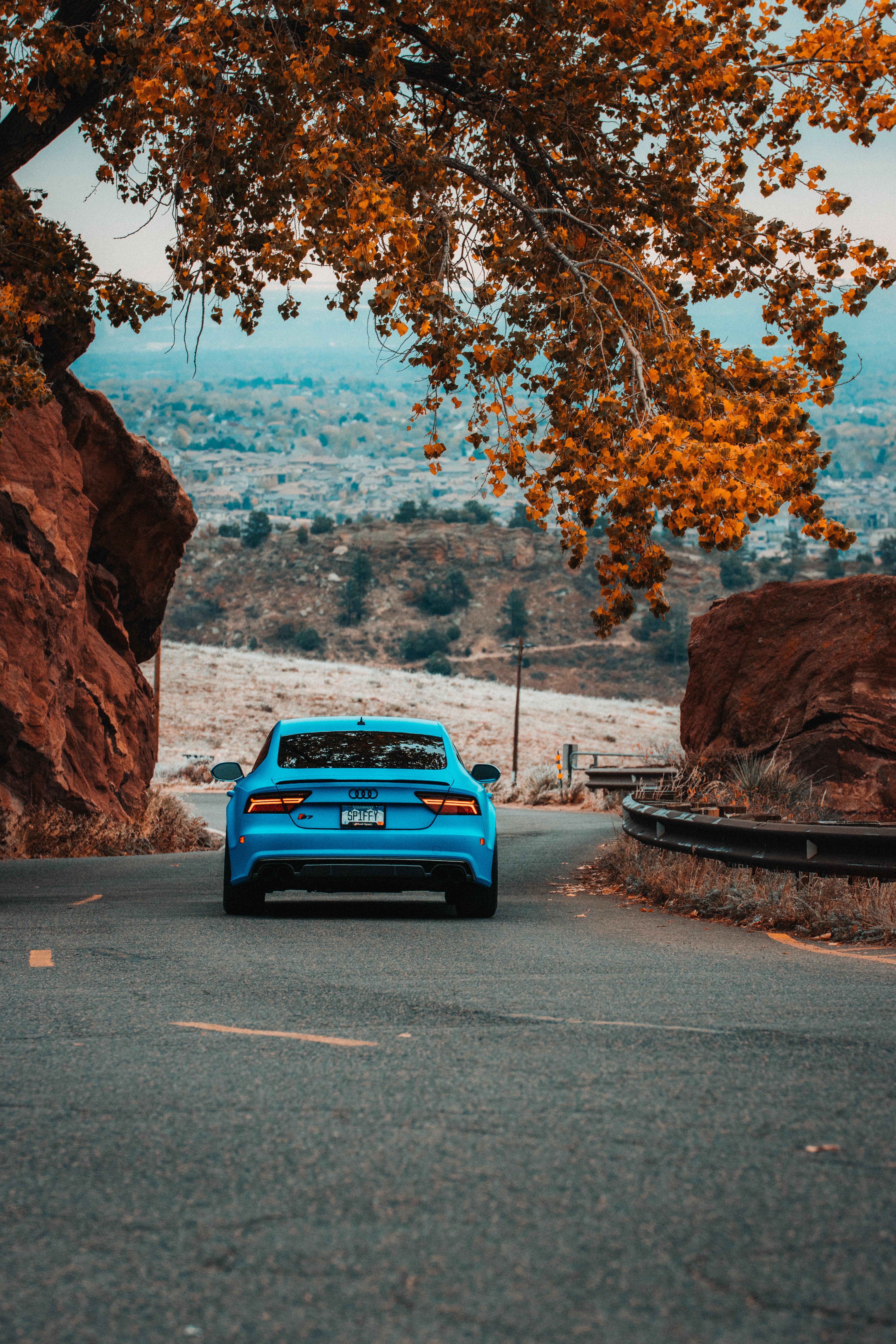 124651 скачать обои Тачки (Cars), Audi S7, Ауди (Audi), Автомобиль, Синий, Дорога - заставки и картинки бесплатно