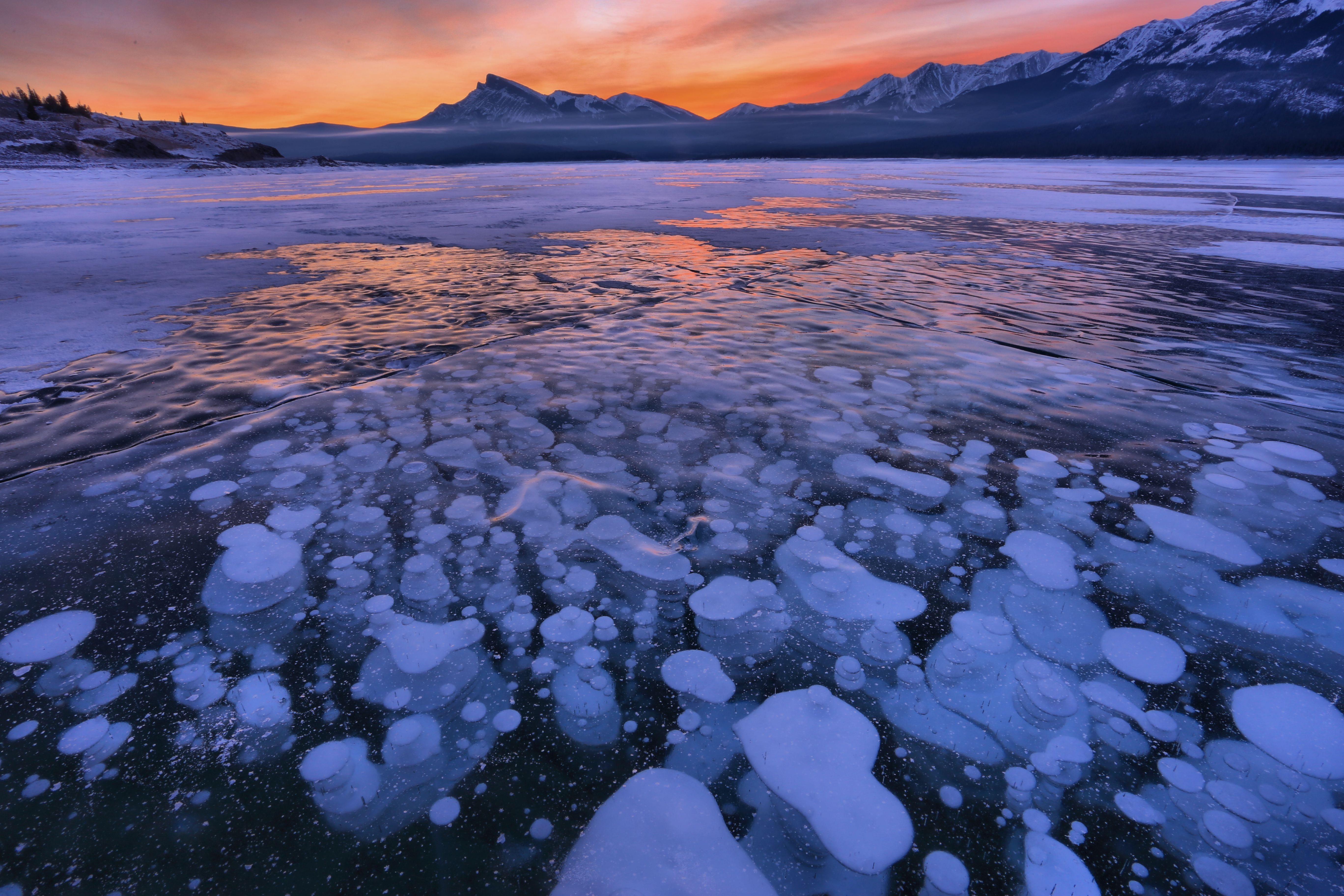 153113 скачать обои Природа, Озеро, Лед, Снег, Зима, Закат, Горизонт - заставки и картинки бесплатно