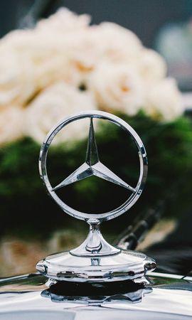 92881 télécharger le fond d'écran Voitures, Mercedes, Icône, Insigne, Bouquet, Fleurs - économiseurs d'écran et images gratuitement