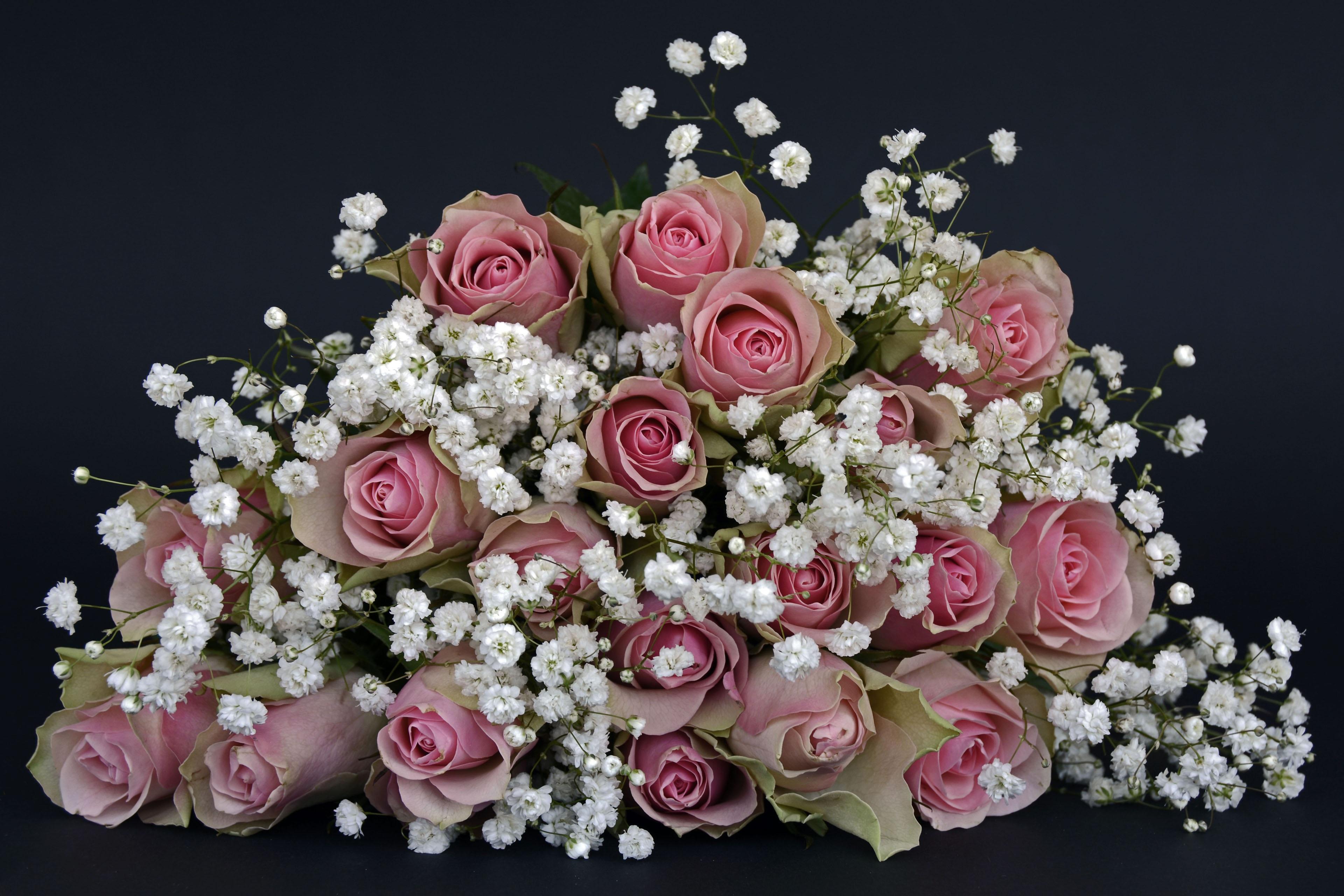 142284 скачать обои Цветы, Букет, Оформление, Розы - заставки и картинки бесплатно