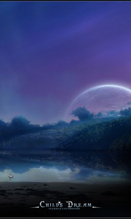 1707 download wallpaper Landscape, Planets, Children, Night screensavers and pictures for free