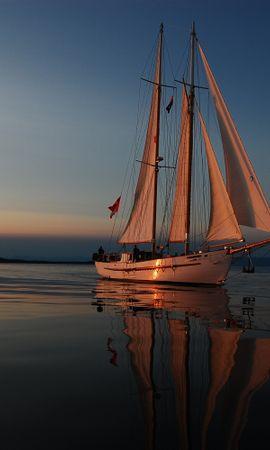 101636 скачать обои Разное, Море, Вечер, Яхта, Отблески Заката, Паруса, Отдых, Путешествие - заставки и картинки бесплатно