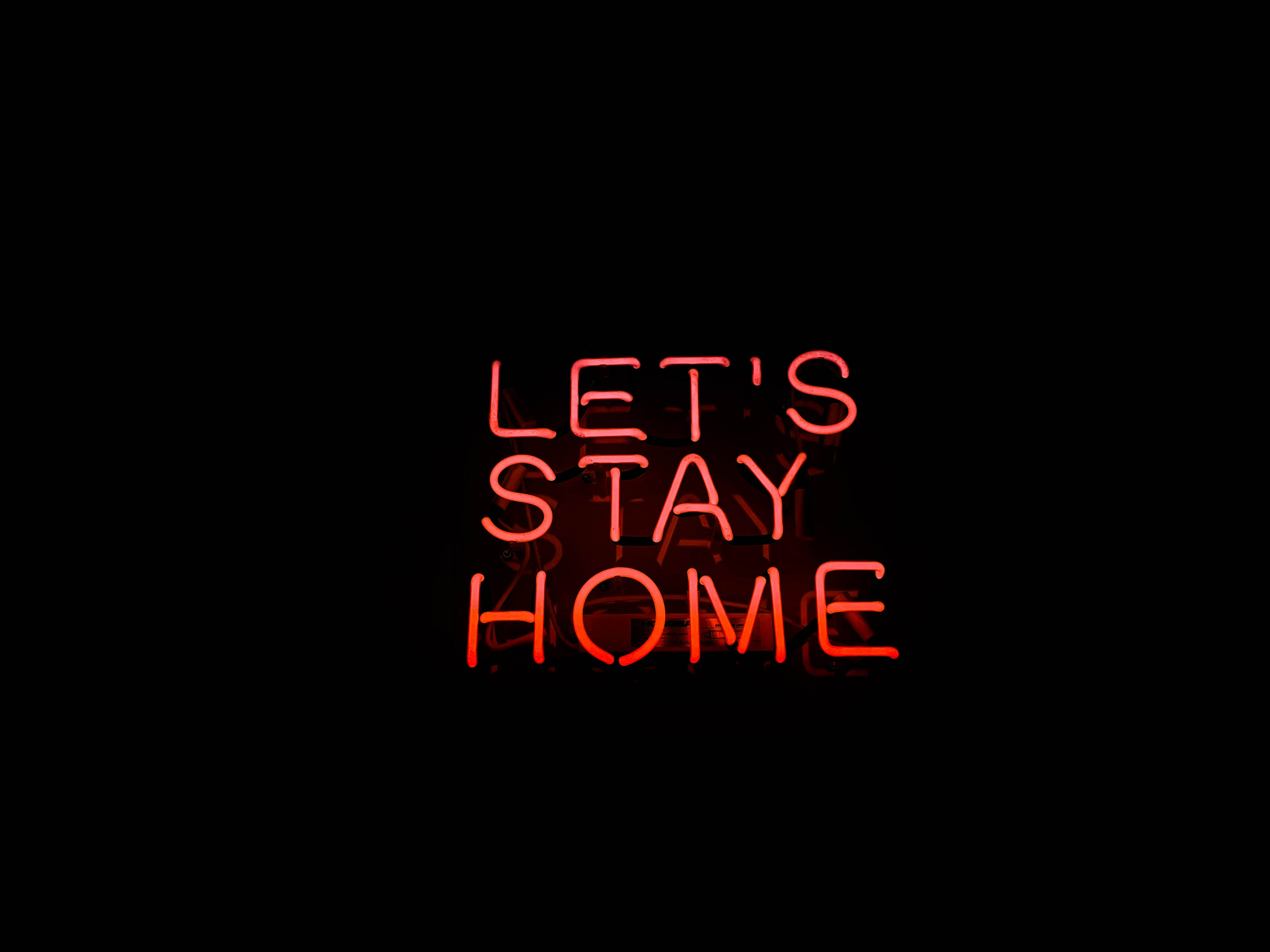 116905 download wallpaper Words, House, Neon, Backlight, Illumination, Inscription screensavers and pictures for free