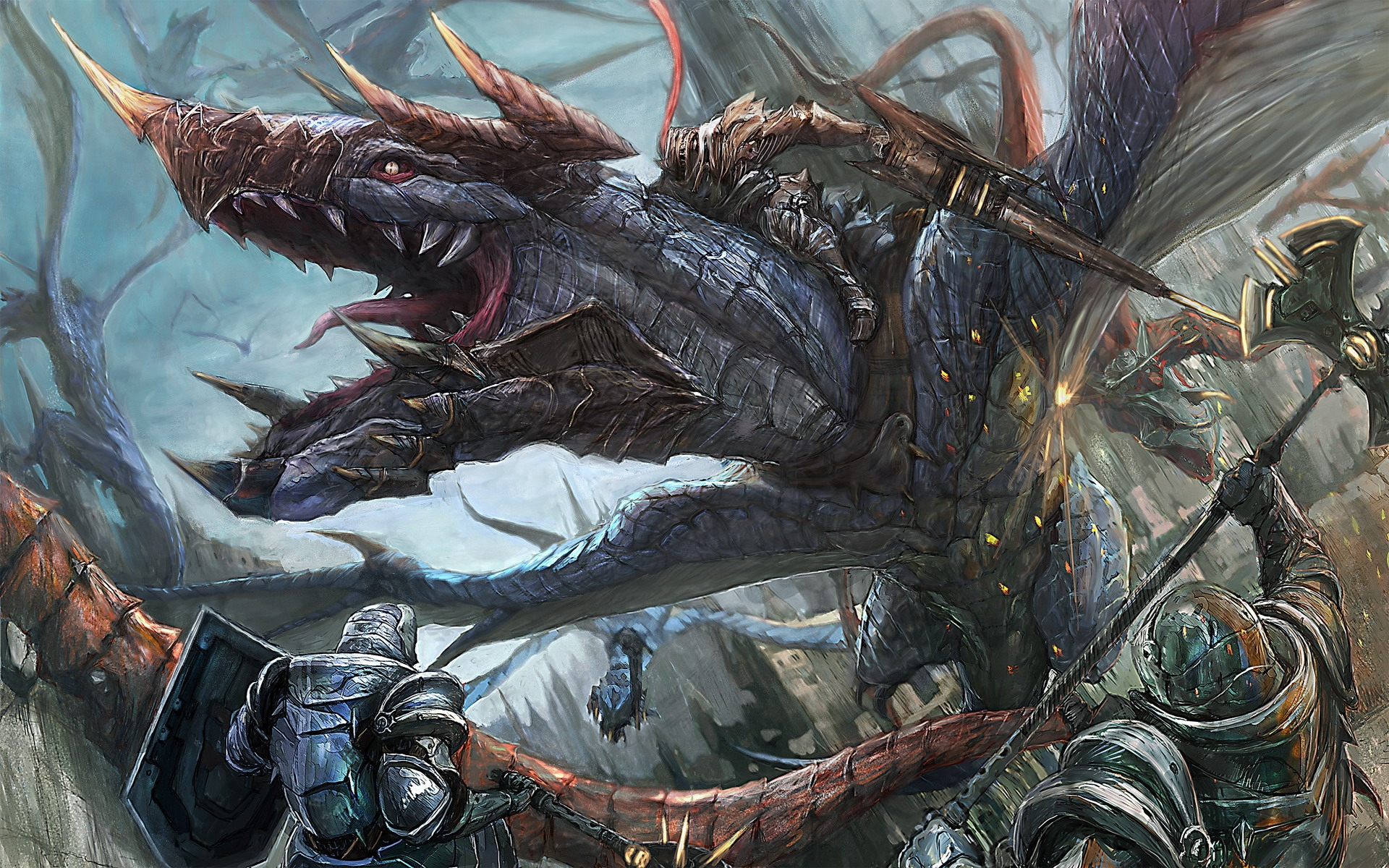 33522 Screensavers and Wallpapers Dragons for phone. Download Fantasy, Dragons pictures for free