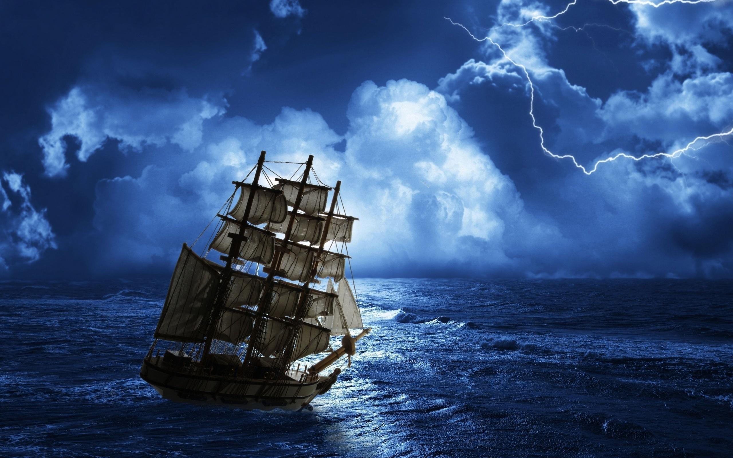 42035 скачать обои Корабли, Море, Рисунки - заставки и картинки бесплатно